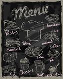 vector chalk menu