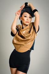 posing asian woman