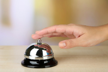 Female hand ring bell
