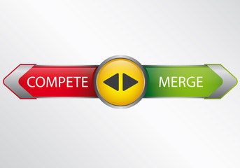Compete or merge