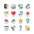 Flat color style Web & Mobile icons set