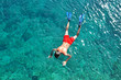 Man snorkeling in the sea - 70558706