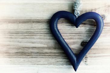 Herz blau, Hintergrund, ohne Text