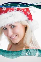 Pretty woman wearing stanta hat