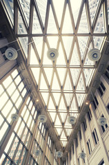 glass ceiling in hall of  new State office