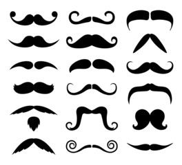 Hipster Moustaches Silhouettes