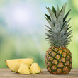 canvas print picture - Ananas Frucht im Sommer
