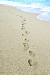 Footprints at beach