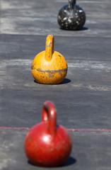 Three  iron kettlebell