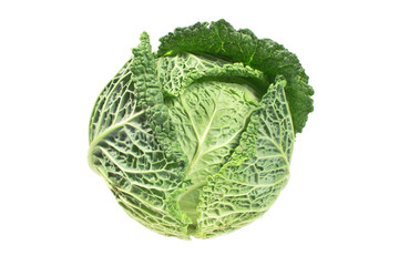 Kale vegetable isolated on white