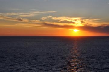 Sun over sea Lefkada