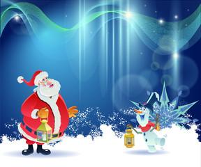 Santa Claus and Little Snowman 3