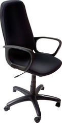 single black office chair illustration