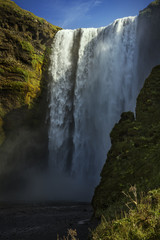Powerful Skogafoss Waterfall in Iceland