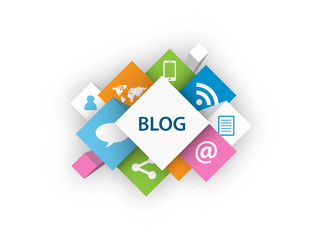 """BLOG"" (social media news online icon web internet news like)"