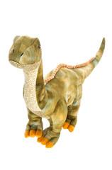 Niedlicher kleiner Dino isoliert auf weiß