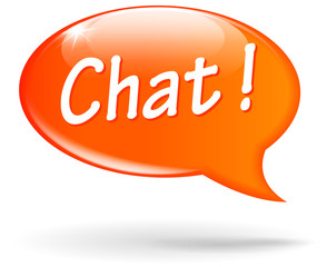 Vector chat orange speech bubble