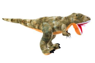Dinosaurier Stofftier isoliert und freigestellt