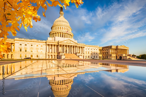 Leinwandbild Motiv US Capitol