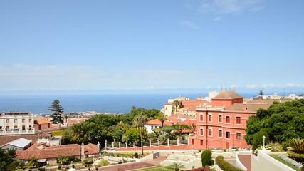 Panoramic view of the town of La Orotava, Tenerife.