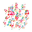Music note icon, easy editable