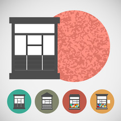 Small vector set house for street retail