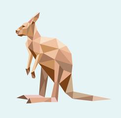 Kangaroo triangle low polygon style