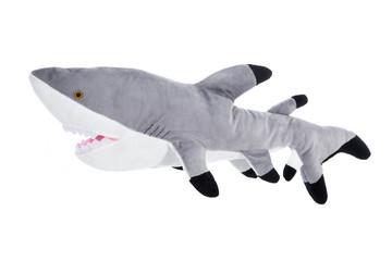 Stofftier: Hai Fisch isoliert auf Weiß