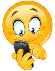 Emoticon with smart phone