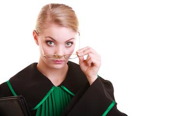 Portrait woman lawyer attorney