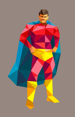 Superhero triangle low polygon style