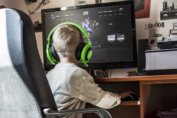 child playing computer