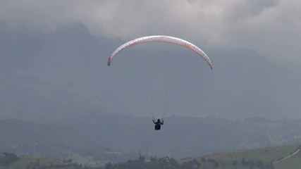 Tranquil, Peaceful, Calm, Paragliding, Extreme Sports