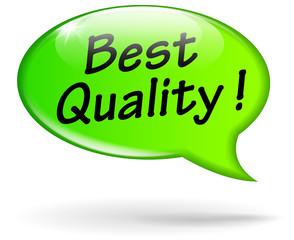 Vector green quality speech bubble