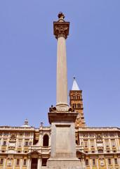 Retro look Santa Maria Maggiore in Rome
