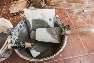 utensilios de albañilería