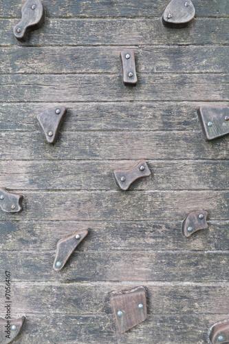 canvas print picture Kletterwand aus Holz