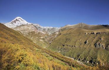 Mount Kazbek. Georgia