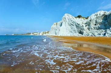 Xi Beach morning view (Greece, Kefalonia).