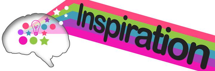 Inspiration Brain Colorful Stripes