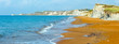 canvas print picture - Xi Beach morning panorama (Greece, Kefalonia).
