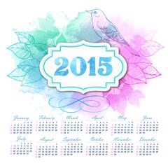 2015 Calendar. Vector Illustration