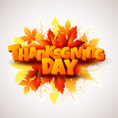 Thanksgiving vector illustration with rowan