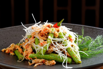 Bali style chicken with lemongrass and long beans