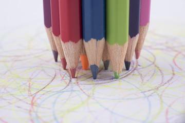 Assortment of colored pencils