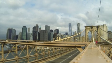 Lower Manhattan View from Brooklyn Bridge, Time Lapse