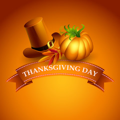 Thanksgiving illustration. Vector Background