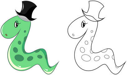 snake in hat