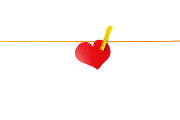 heart on a clothespin