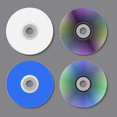 DVD CD disks. Vector illustration.